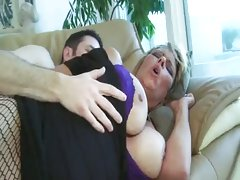 Horny mom getting dicked over couch