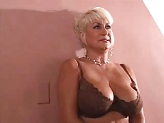 Big tits  blonde mature fuck young guy