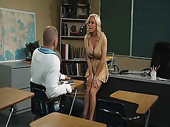 Diamond Foxxx is a hot blond with shaved pussy and fucks hard cock