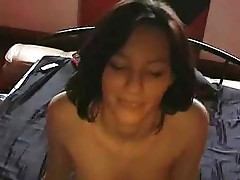 Skinny girl is fucked by her boyfriend on cam in good POV