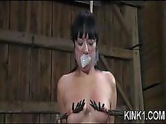 Hot girl gets tied hard