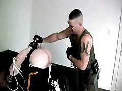 Officer Tied Up and Spanked