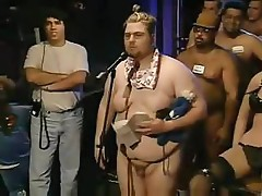 Fat dude with a tiny dick is on the Howard Stern show with friends