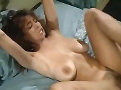 Christy Canyon in a retro porn movie shows how to get fucked
