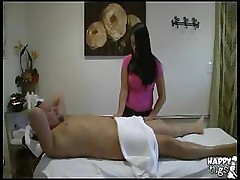 Sexy Asian masseuse riding cock