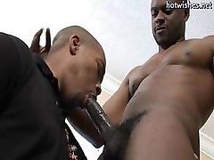 Hot black gay sucking a huge cock
