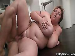 Hot BBW sex after a bottle of wine