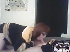 Nerdy Redhead Cheerleader Sextape