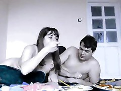 Homemade sex is filmed by an amateur couple of them fucking