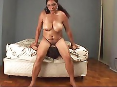 Brazilian chick sits on her face and gets a good pussy licking