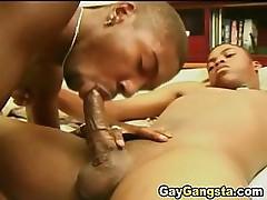 Black studs hardcore butt fucking