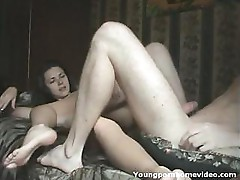 Amateur Couple In Action On Bed