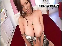 Big breasted Asian girl gets a cock to suck and get fucked