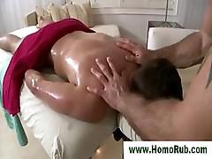 Straight guy seduced with massage
