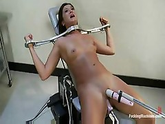 Cece Stone is getting fucked by a machine and she loved it
