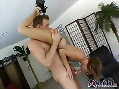 Petite girl is fucking and sucking in many different positions