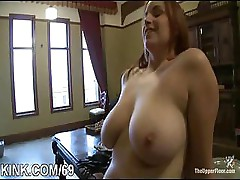 Huge tits, submissive housewife
