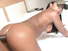 Big cock in the dark ass of exotic tramp-stamped beauty Brenda