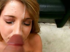 Jessica Lyn got busted with a hot nut on face