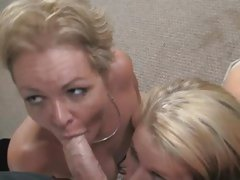 Aiden Aspen do hard blowjob with her hot mommy