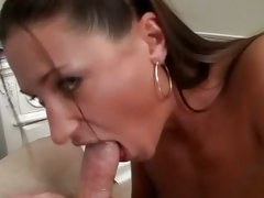Saucy Tiffany Thomas takes a hard dick down her throat