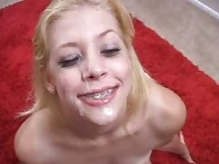 Leav Luv getting fill with white cumshot