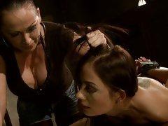 Mandy Bright a strict mistress punish a hot girl