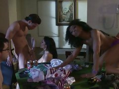 Alektra Blue and Misty Stone get laid after gambling