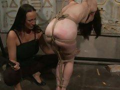 Mandy Bright slap hard a tied naked babe. 4:462012-08-12 PornTube babes bdsm ...