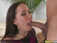 Amia Moretti loves to get her hands and mouth on cock