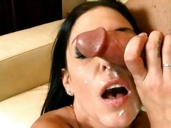 Jessica Jaymes like the ejaculatory fluid on her face