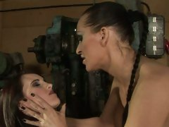 Mandy Bright torturing her hot sexy slave