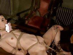 Kathia Nobili tie and spanking a hot babe