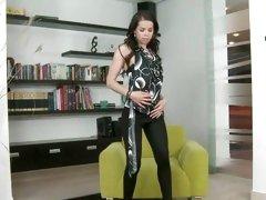 Jessica Koks hot babe wearing a sexy black tight