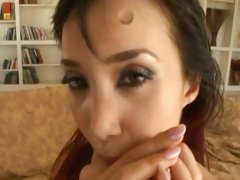 Katsumi spunk in the mouth with hot cumshot