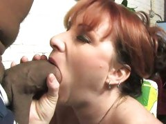 Kylie Ireland brunette milf like facial with black dick