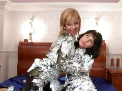 Daria Glower and slutty chick filled with shaving cream
