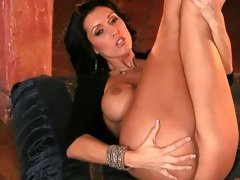 Dylan Ryder stretch up her legs showing round ass