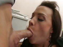 Chanel Preston eat the cock of her hot officemate
