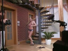 Sylvia Saint posing hot in from of cam with only panty