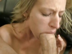 Rocco Siffredi get a hard blow from a horny chick