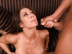 Capri Cavalli polishing the knob of her hot partner