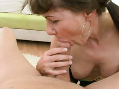 Alexandra Silk eat the yummy meat of hot guy