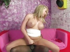 Barbie Cummings babe giving her service to black guy