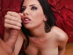 Brandy Aniston allow hot guy to come on her face