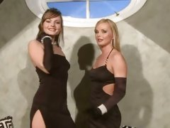 Sylvia Saint with her hot friend wearing black dress