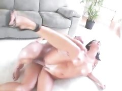 Filthy Lezley Zen gets her pussy crammed with hard cock