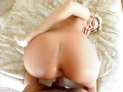 Bree Olson bend over for a fuck on soft bed