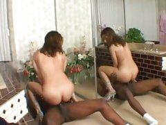 Rampant Jennifer Luv bounces her snatch on a huge dick