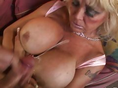 Cougar pounded with fat cock and huge tits jizz covered